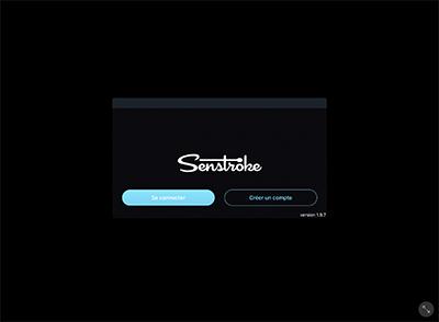 Senstroke app home page